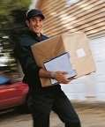 driver delivering rush package in los angeles