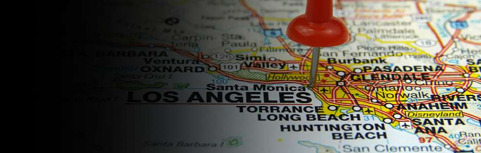 map of los angeles we service
